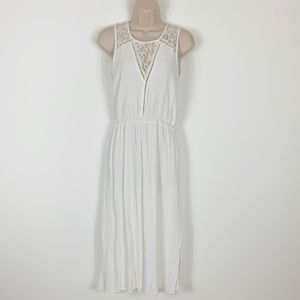White Summer Dress Lace Long Kismet Size M